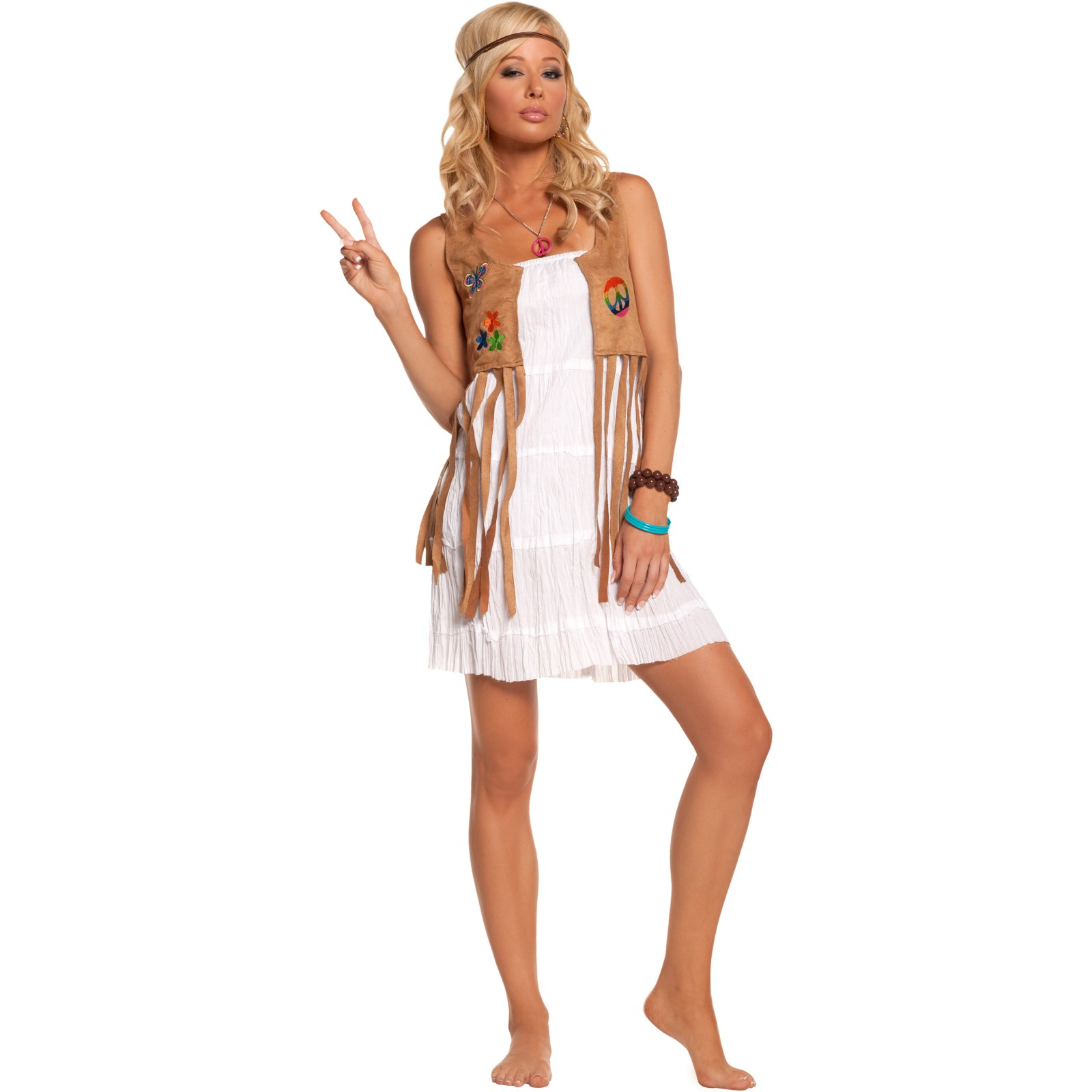 Awesome Groovy Hippie Women39s 196039s Costume 197039s Hippie Vest Costume  sc 1 st  playzoa.com & Hippie Women Dress Up : Original Blue Hippie Women Dress Up Example ...