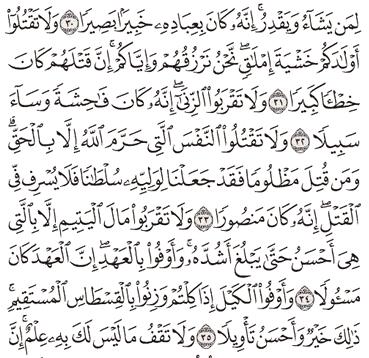 Tafsir Surat Al-Israa Ayat 31, 32, 33, 34, 35