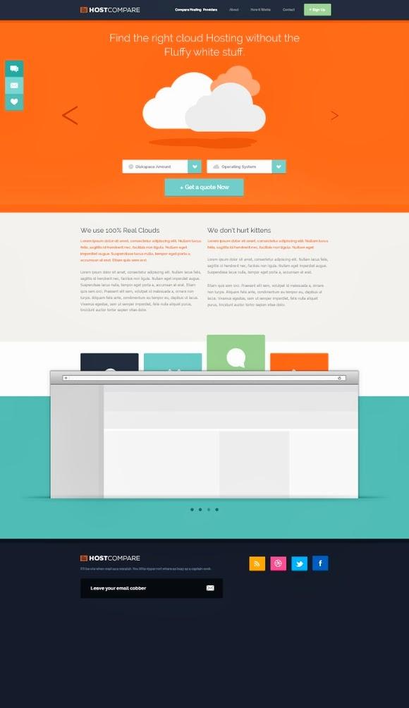 Hostcompare – Free Hosting Web Design PSD