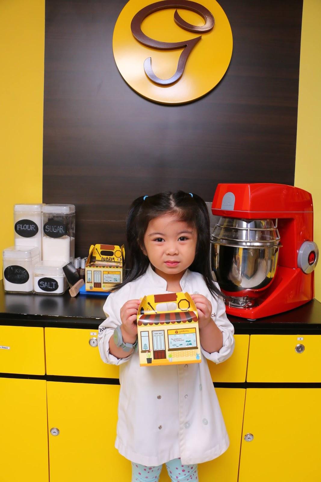 Chloe in Goldilocks Bakeshop in KidZania Manila