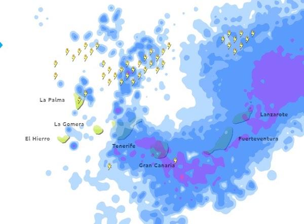 Fuertes lluvias, granizo y viento, jueves 18 febrero
