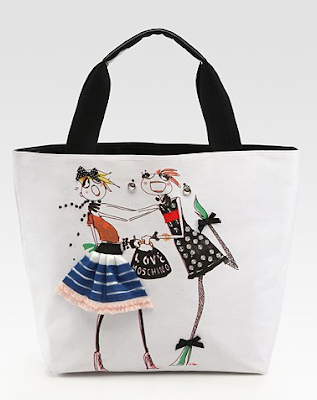 Adorable Illustrated Moschino Totes!