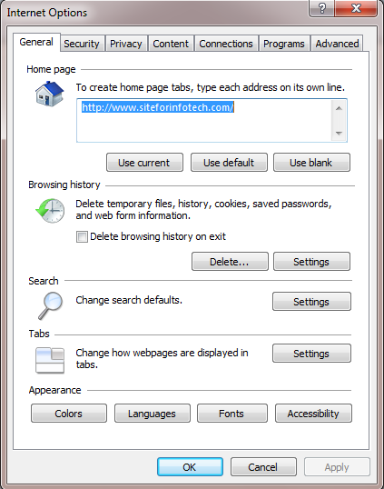 Deleting Browsing History From Internet Explorer