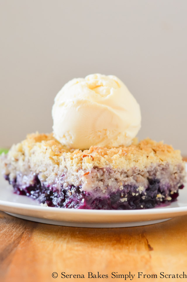 Easy to make Blueberry Crisp.