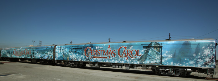 Amtrak Train for A Christmas Carol 2009 animatedfilmreviews.blogspot.com