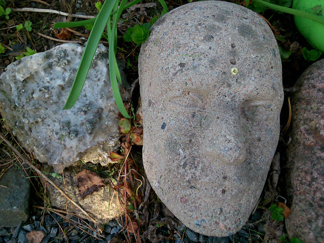 The face made of concrete