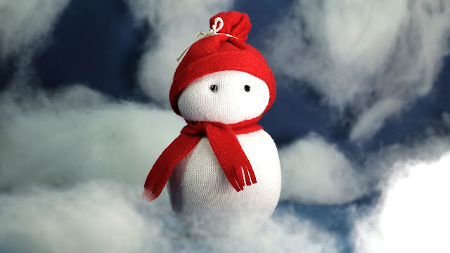 Sock Snowman Craft- Christmas Crafts DIY Tutorial