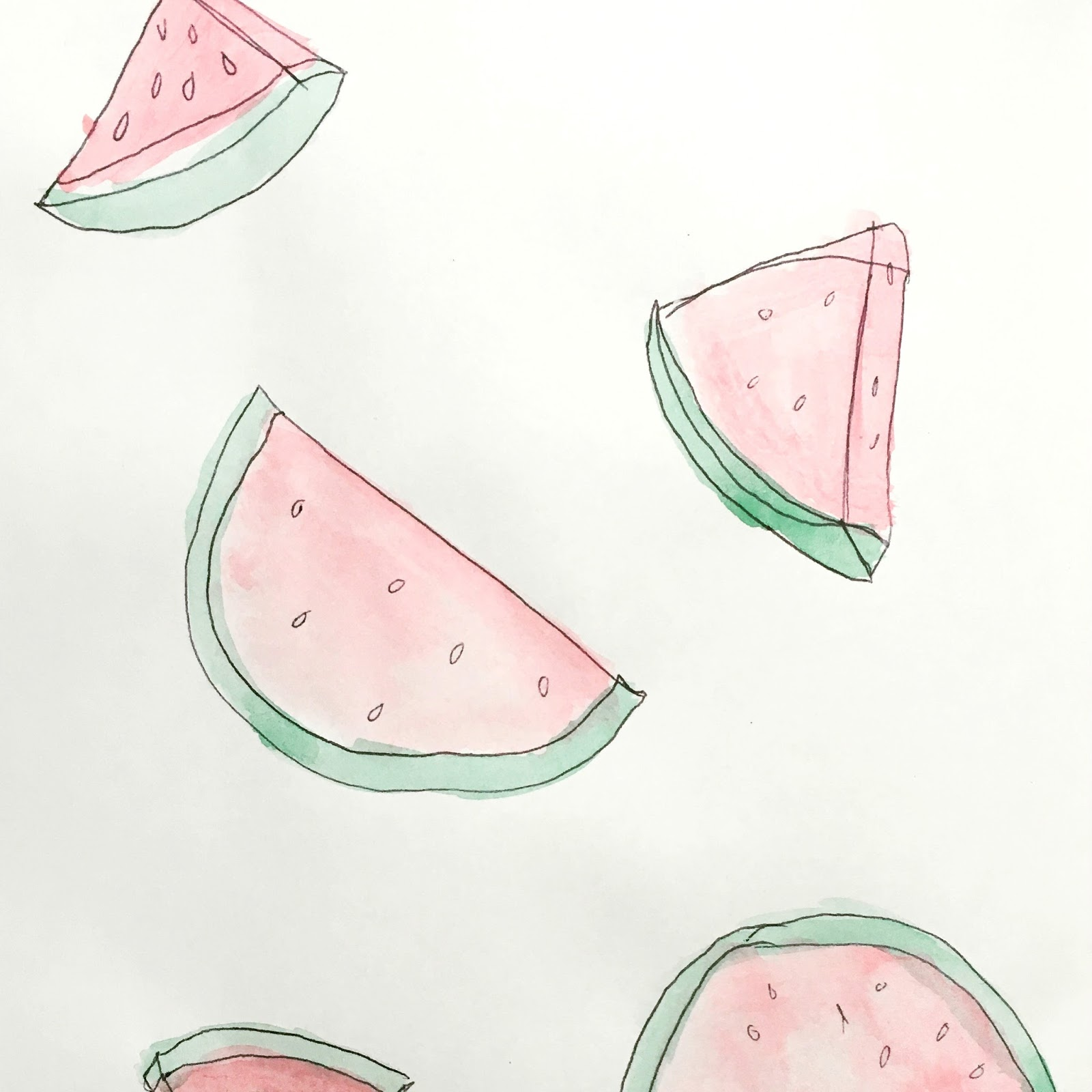 Sweet Allure I Decided To Start An Art Journal creative sketchs drawing watercolours painting doodles watermelon fun hobby