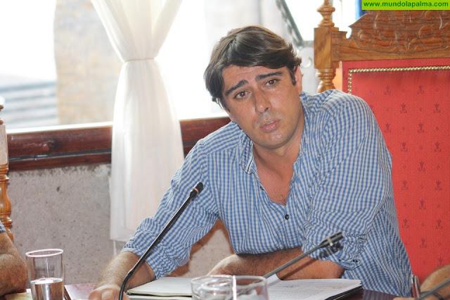 El Ayuntamiento de Santa Cruz de La Palma inicia la repavimentación de la pista del Barranco del Espino