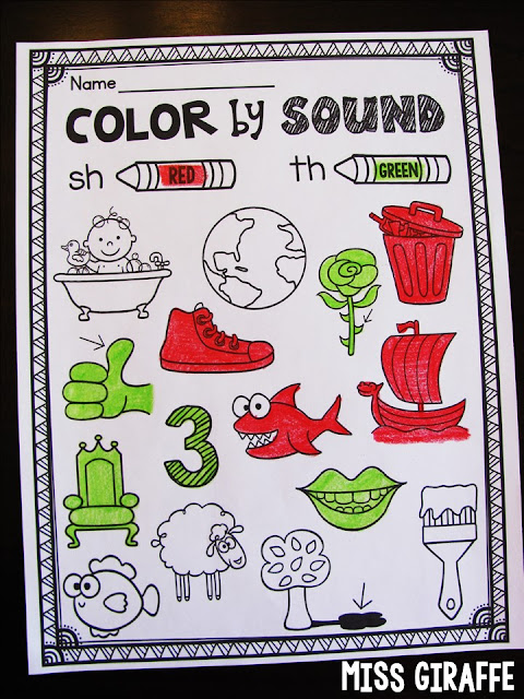 Color by Digraph worksheet and other fun digraphs worksheets that make learning those tricky sounds fun!