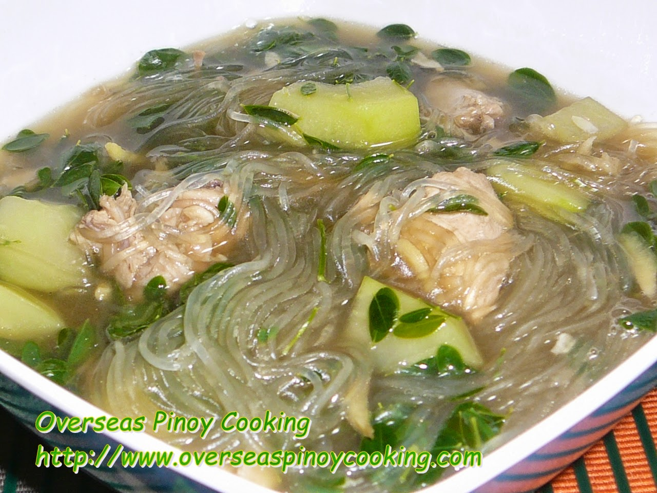 Tinolang Manok with Malungay and Sotanghon