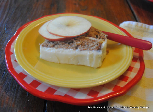 Apple Butter Cake with Maple Frosting at Miz Helen's Country Cottage