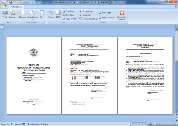 Format Proposal Unit Sekolah Baru SMP