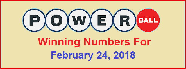 PowerBall Winning Numbers for Saturday, 24 February 2018