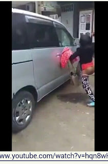 Nairobi Prostitute Destroys Client's Car Who Refused To Pay After Sex (Video)
