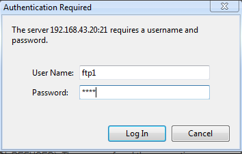 login ftp server