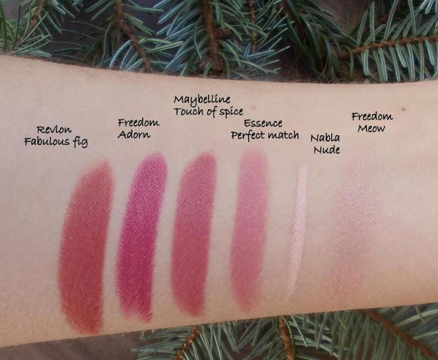 fall winter favorites matte lipstick swatches