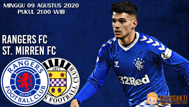Prediksi Bola Glasgow Rangers vs St Mirren Minggu 09 Agustus 2020