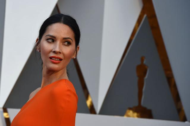 X-Men Apocalypse actress Olivia Munn at 88th Annual Academy Awards