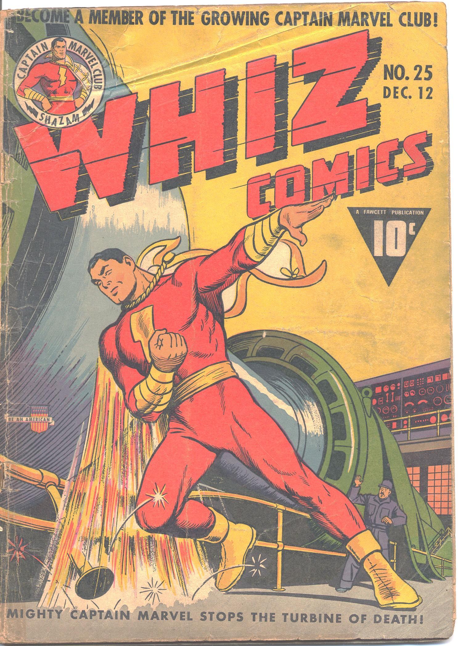 WHIZ Comics 25 Page 1