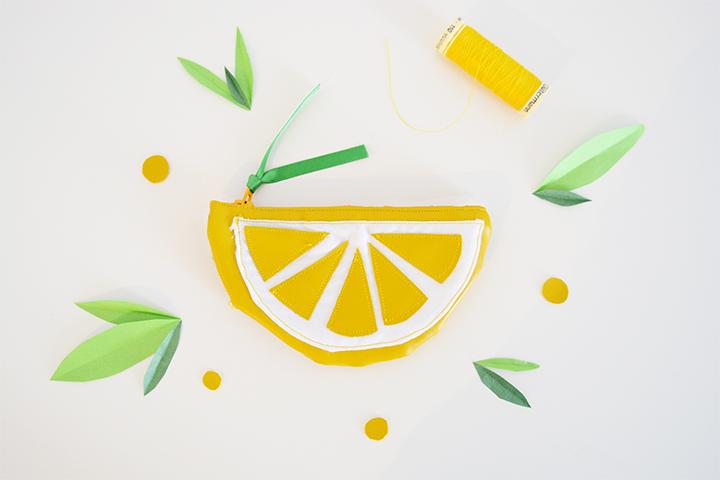 DIY Porte Monnaie Citron