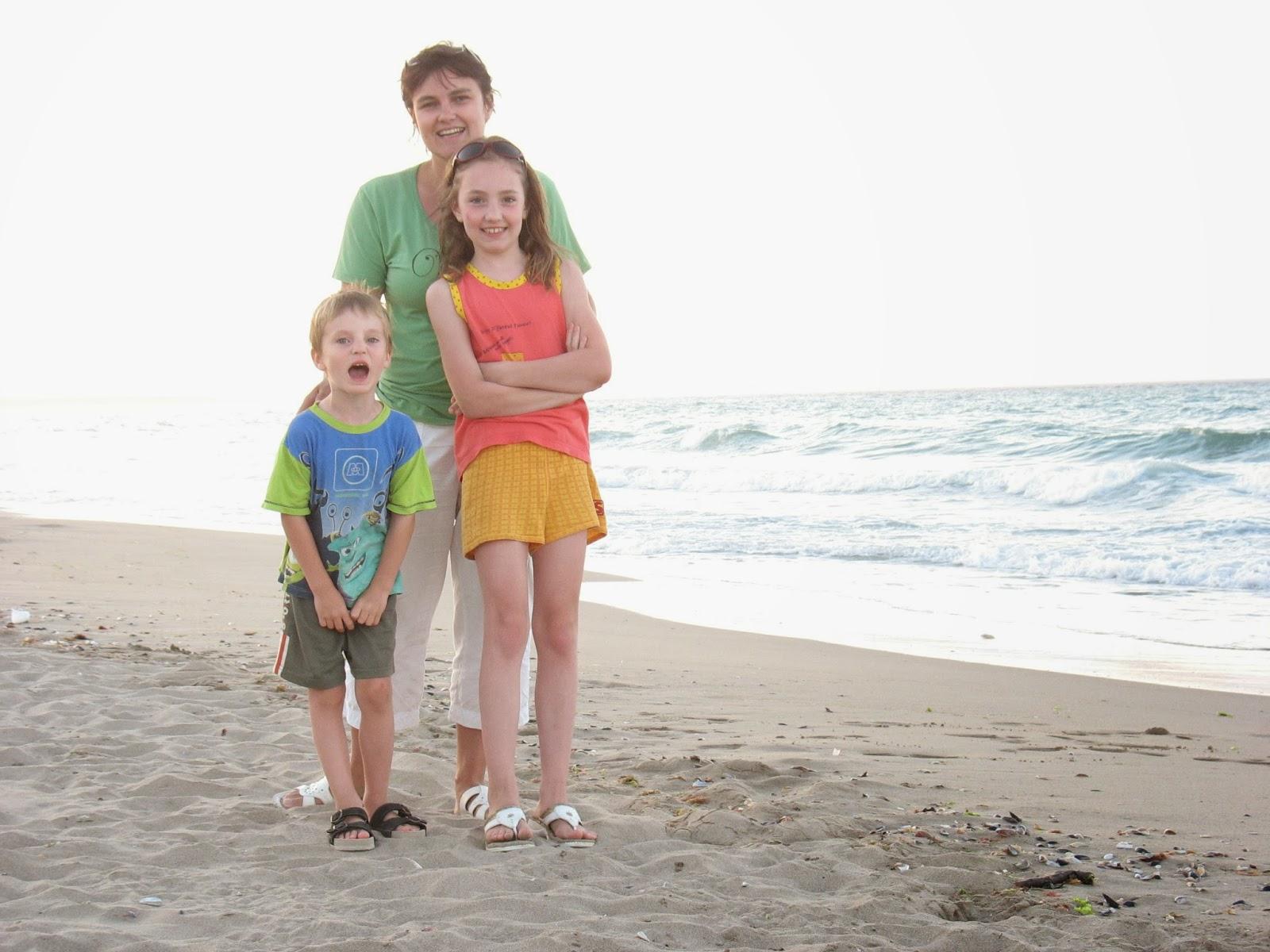 Rodinná fotka na pláži v Bulharsku Krapetz