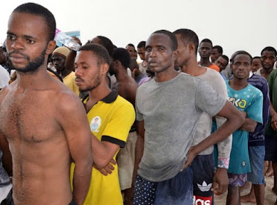 20 nigerians sold slaves rescued libya desert