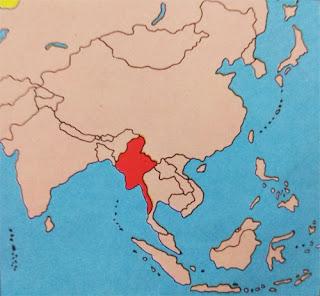 Gambar Peta letak negara Myanmar