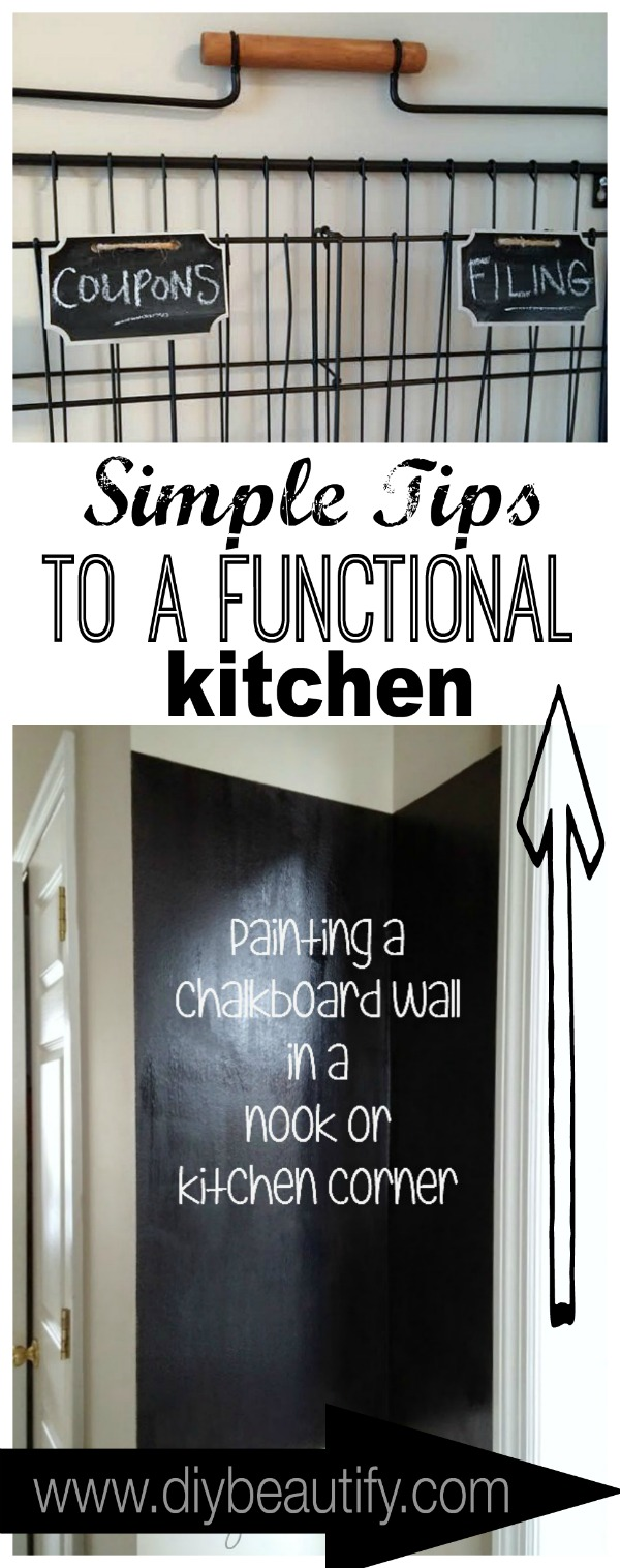 tips to organize your kitchen at www.diybeautify.com
