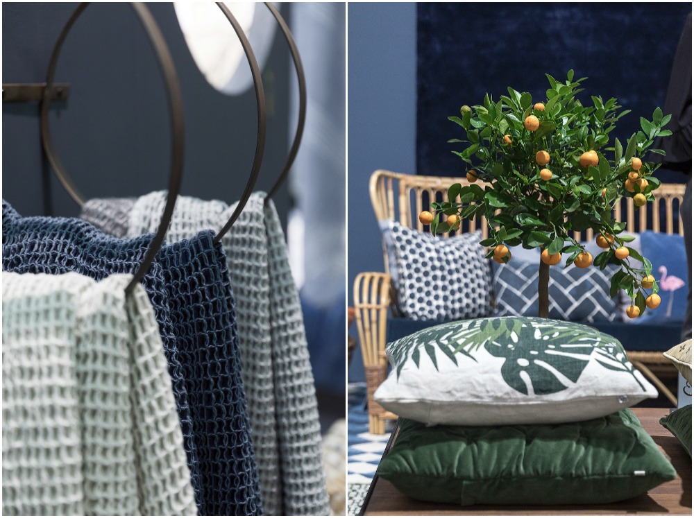 Formex, tradefair, sisustus, sisustaminen, inredning, interior, inspiration, spring, trends, trend, Visualaddict, photography, Frida Steiner, decor, decoration, trends2018, colours, home, colors, green, blue, towels, pillows