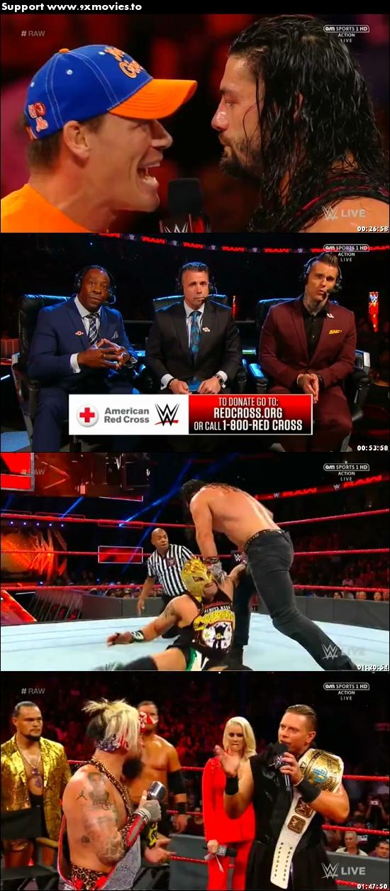 WWE Monday Night Raw 11 September 2017 HDTV 480p 500mb