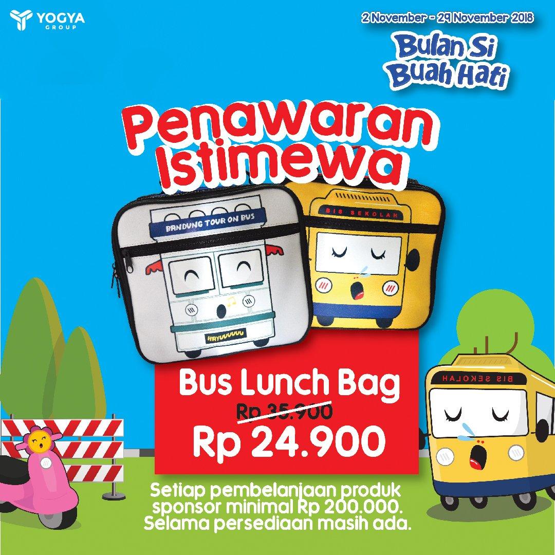 Yogya - Promo Penawaran Instimewa Bus Luch Bag 24Ribuan (s.d 29 Nov 2018)