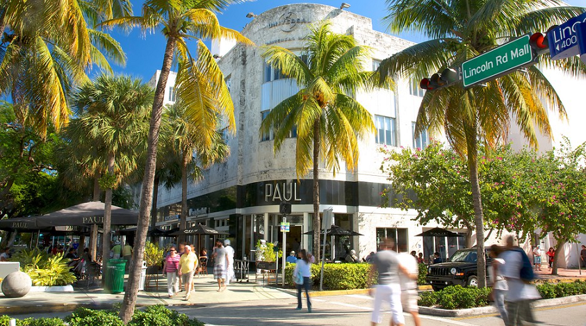 Avenida Lincoln Road Em Miami Beach