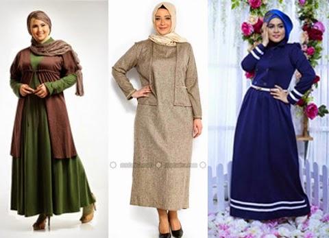 model baju muslim simple orang gemuk