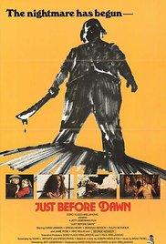 Watch Just Before Dawn Online Free 1981 Putlocker