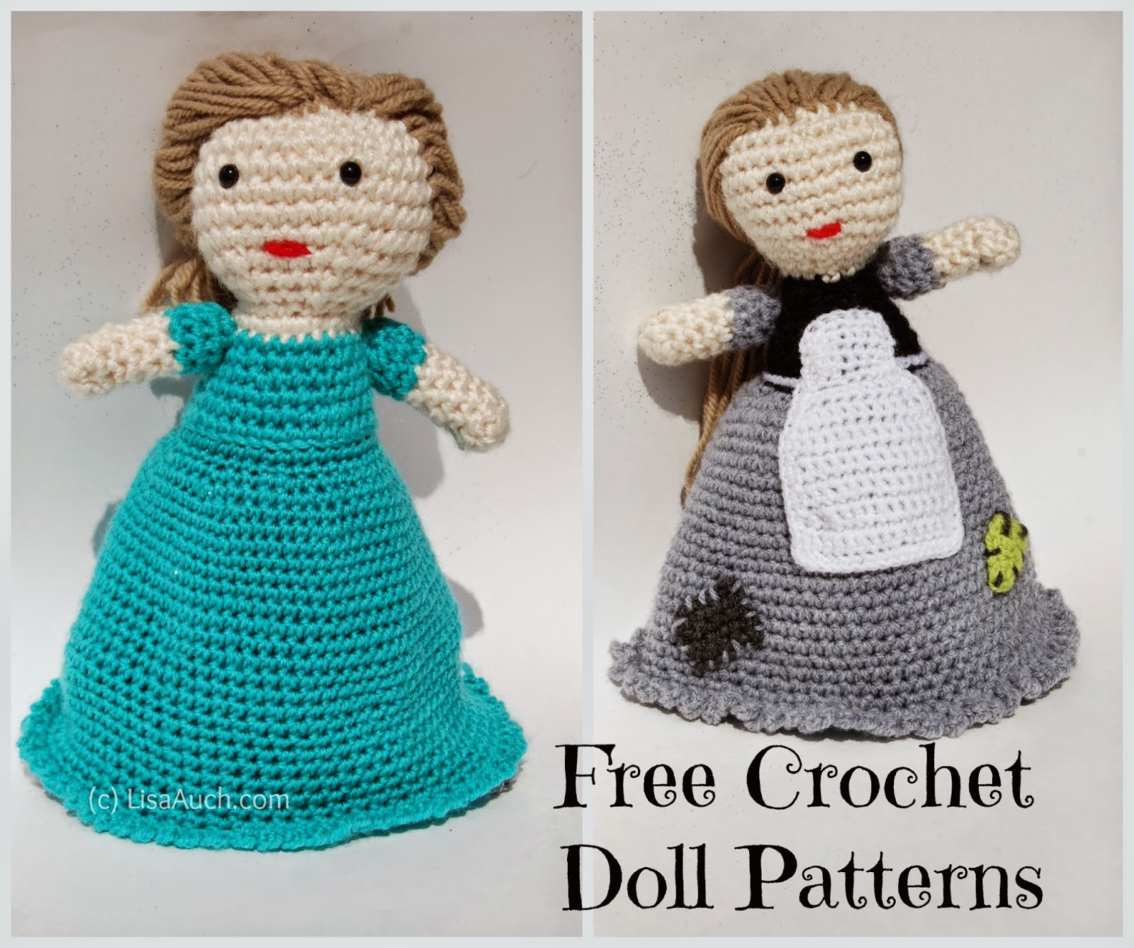 Free Crochet Amigurumi Doll Pattern (A Basic Crochet Doll Pattern ...