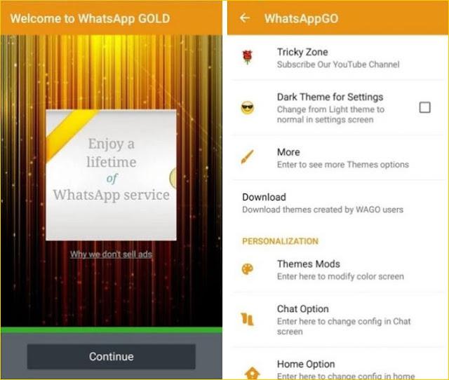 تنزيل برنامج واتس اب الذهبي للأندرويد مجاناً