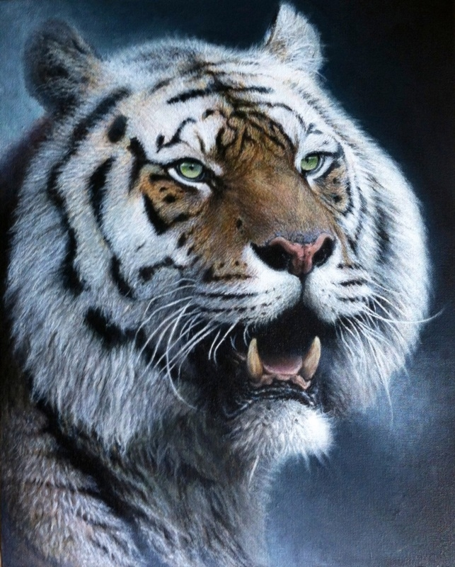 12-Tiger-Nick-Sider-Realistic-Animal-Paintings-more-than-a-Photo-Image-www-designstack-co