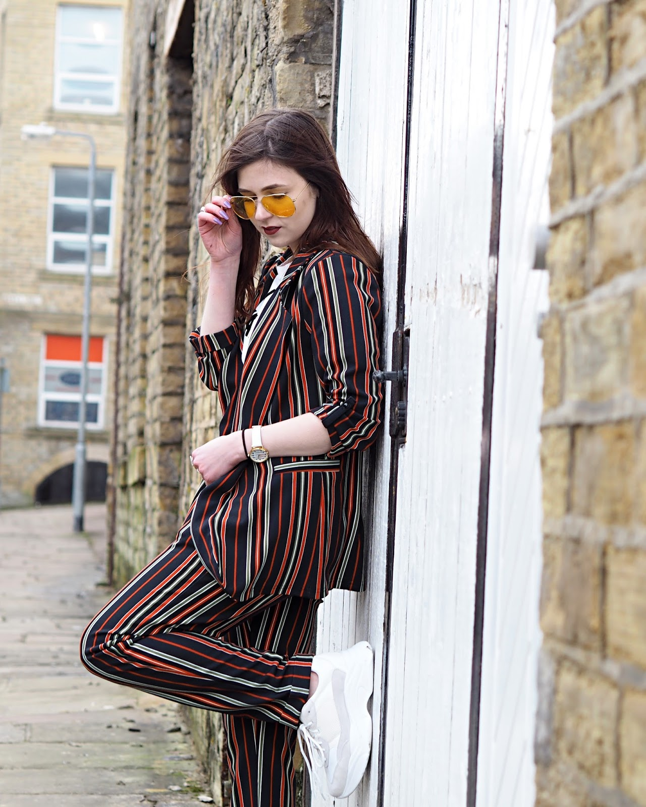 striped co-ord