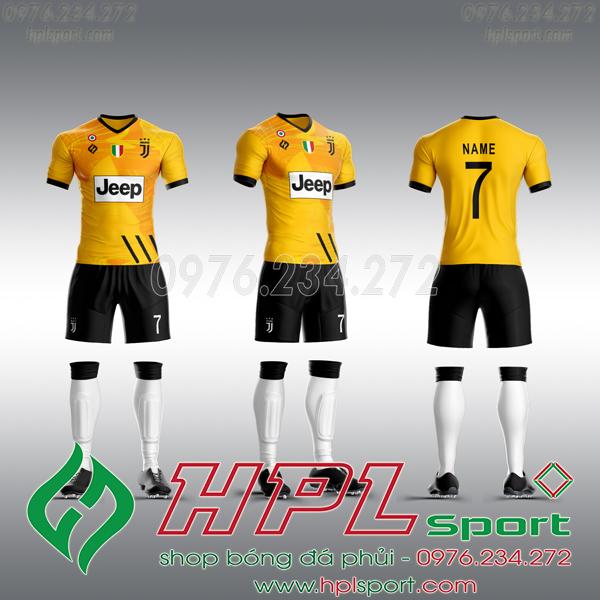 Mẫu áo câu lạc bộ tự thiết kế Juventus vàng