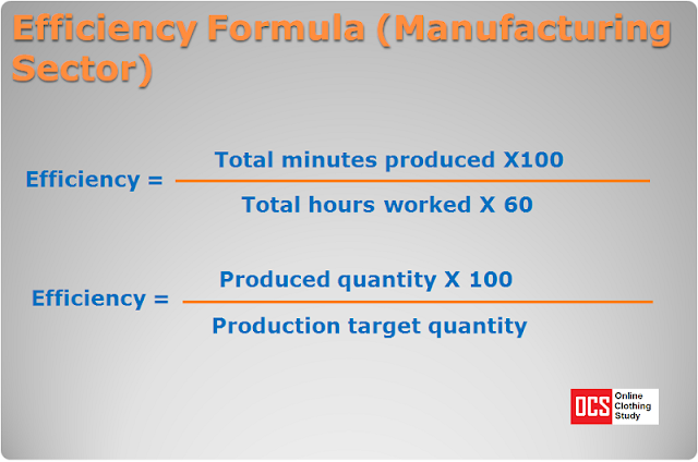 Efficiency calculation formula