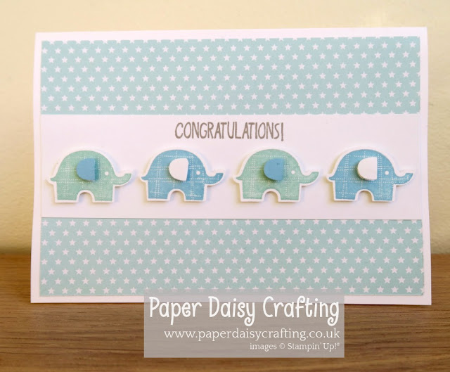 New baby boy card - Little Elephant - Stampin' Up!