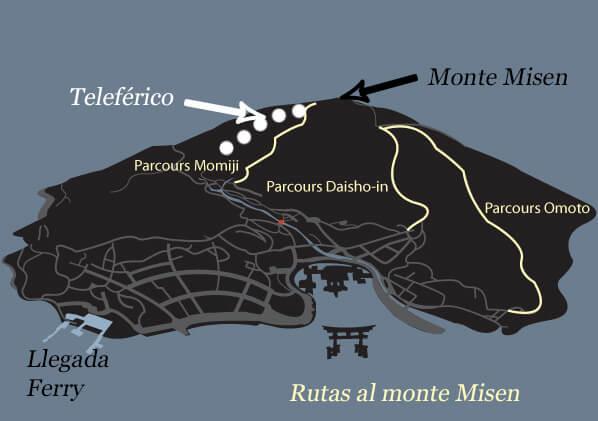 Rutas para subir al monte Misen