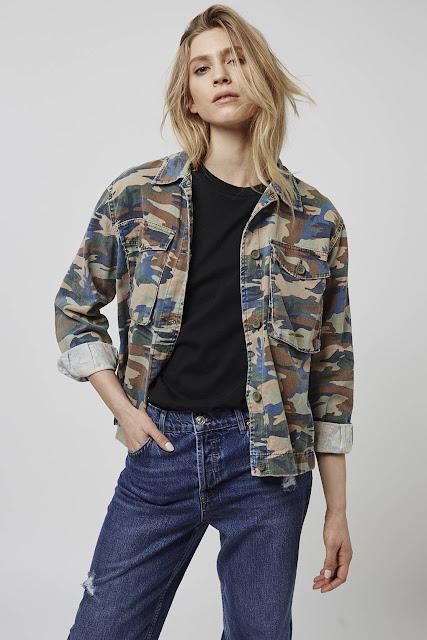 camouflage grey pink jacket, topshop camouflage jacket,