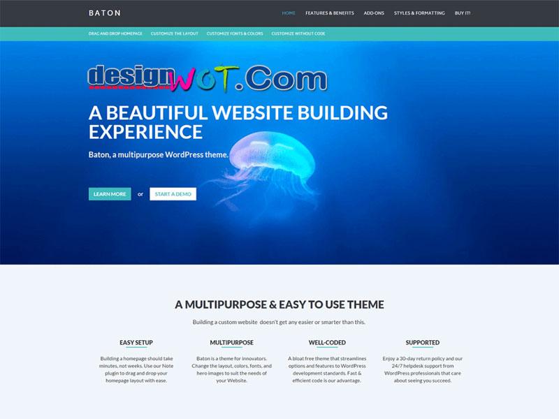 Baton Beautiful Multipurpose WordPress Theme