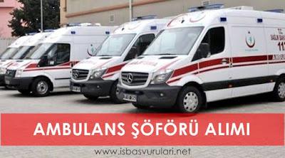 Ambulans Şöförü Alımı