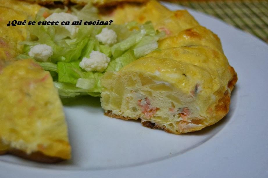 Pastel de salmón y patata