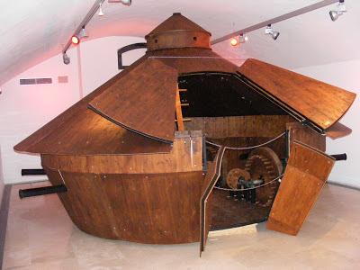 Tanque ideado por Leonardo Da Vinci - curiosidades