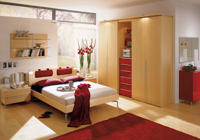 Inspiration To Make Comfortable Red Bedroom