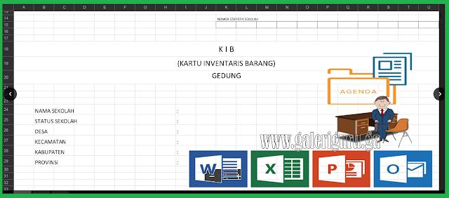 Download Excel KARTU INVENTARIS BARANG (KIB) Arsip Kepala Sekolah